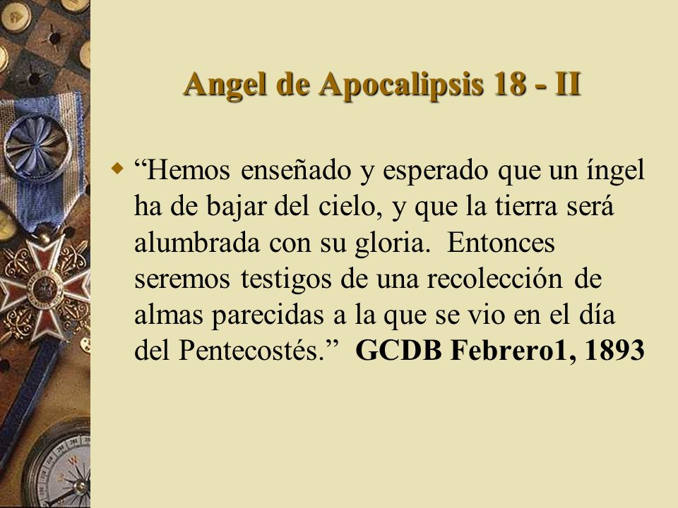 Angel de Apocalipsis 18 - II