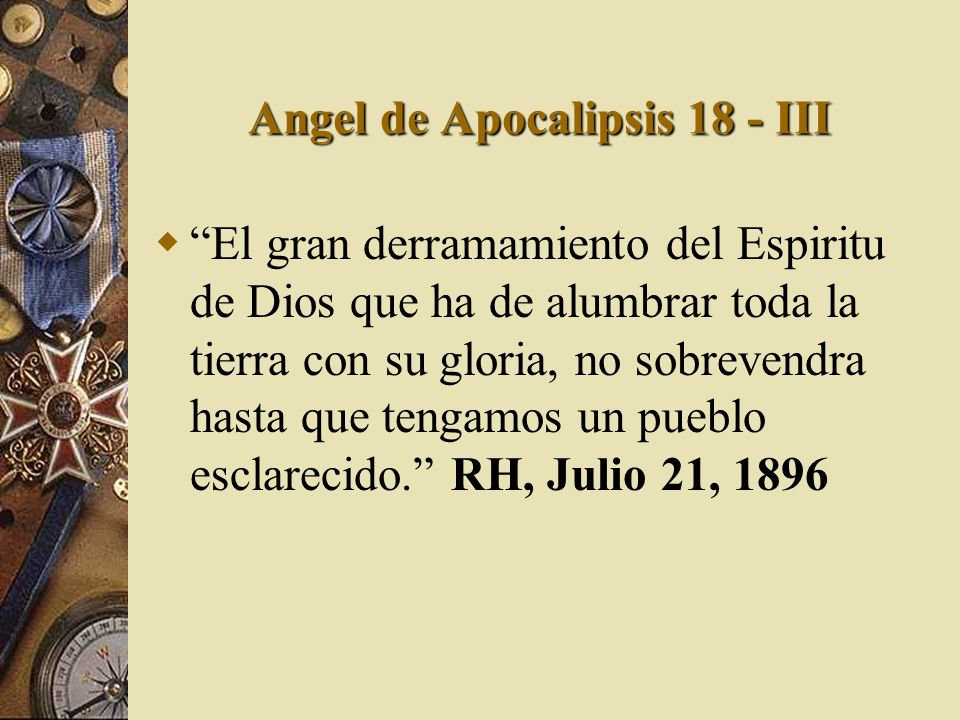 Angel de Apocalipsis 18 - III