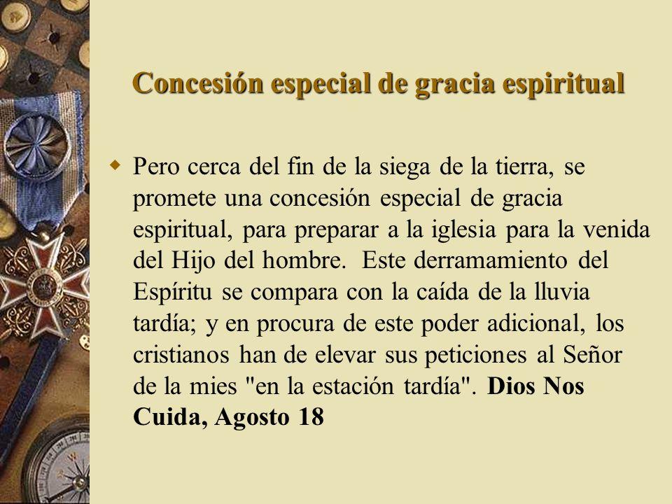 Concesión especial de gracia espiritual