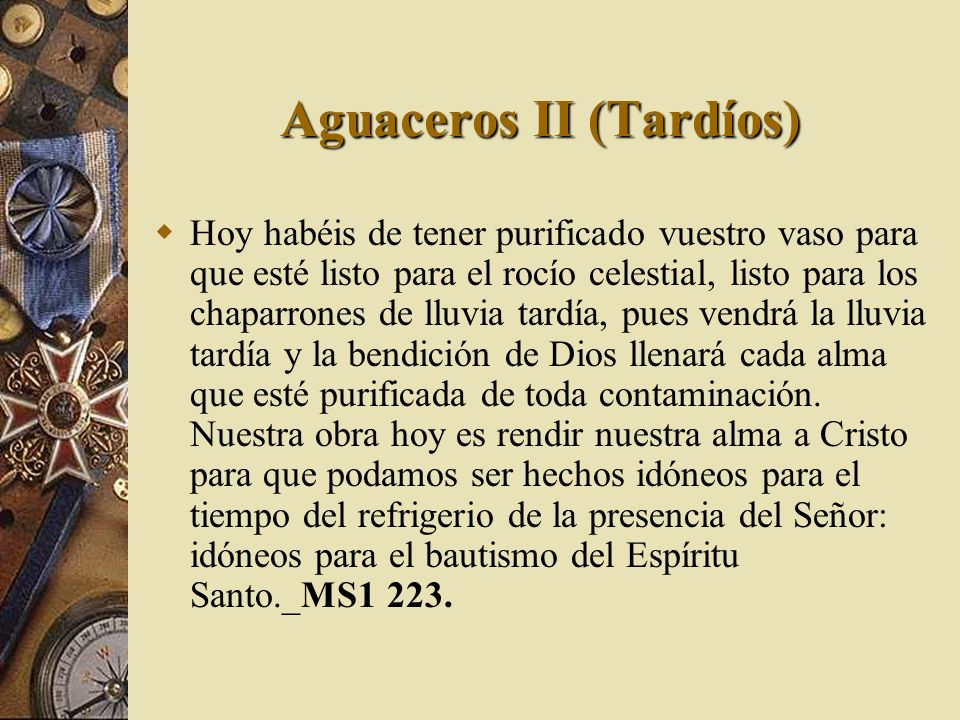 Aguaceros II (Tardíos)
