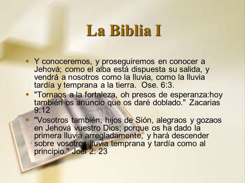 La Biblia I
