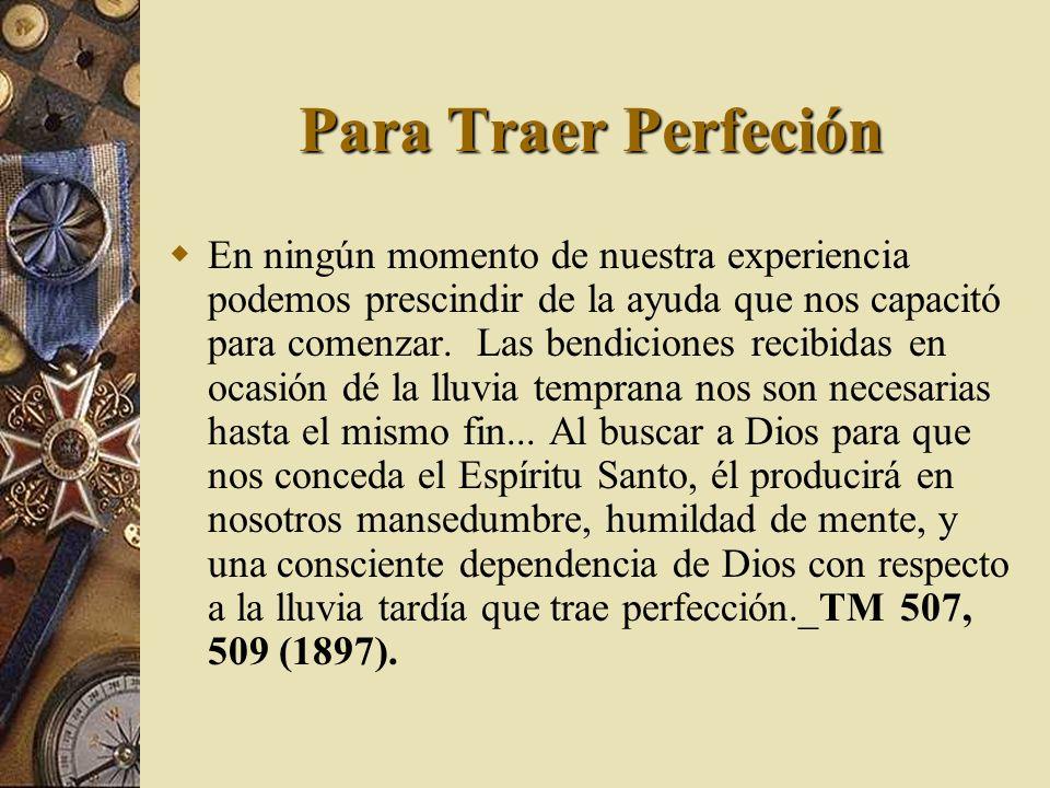 Para Traer Perfeción
