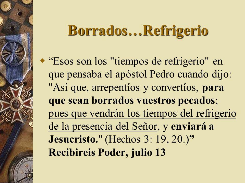 Borrados…Refrigerio