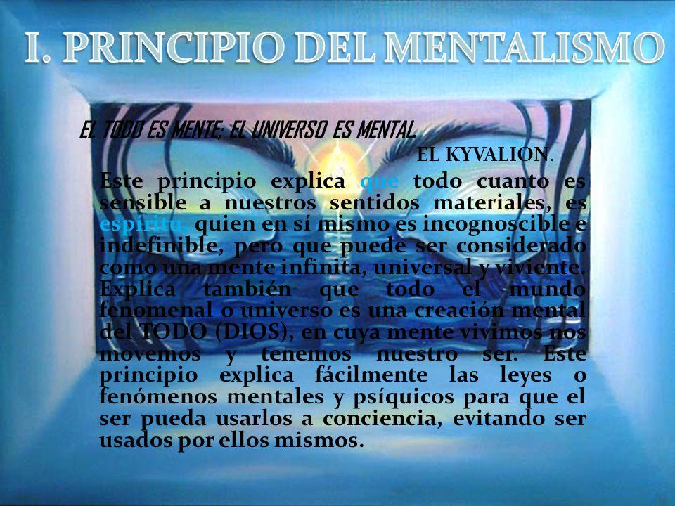 I. PRINCIPIO DEL MENTALISMO