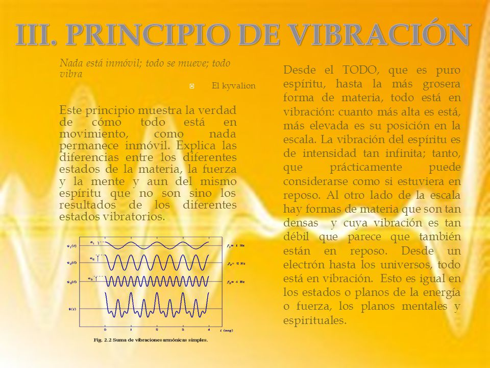 III. PRINCIPIO DE VIBRACIÓN