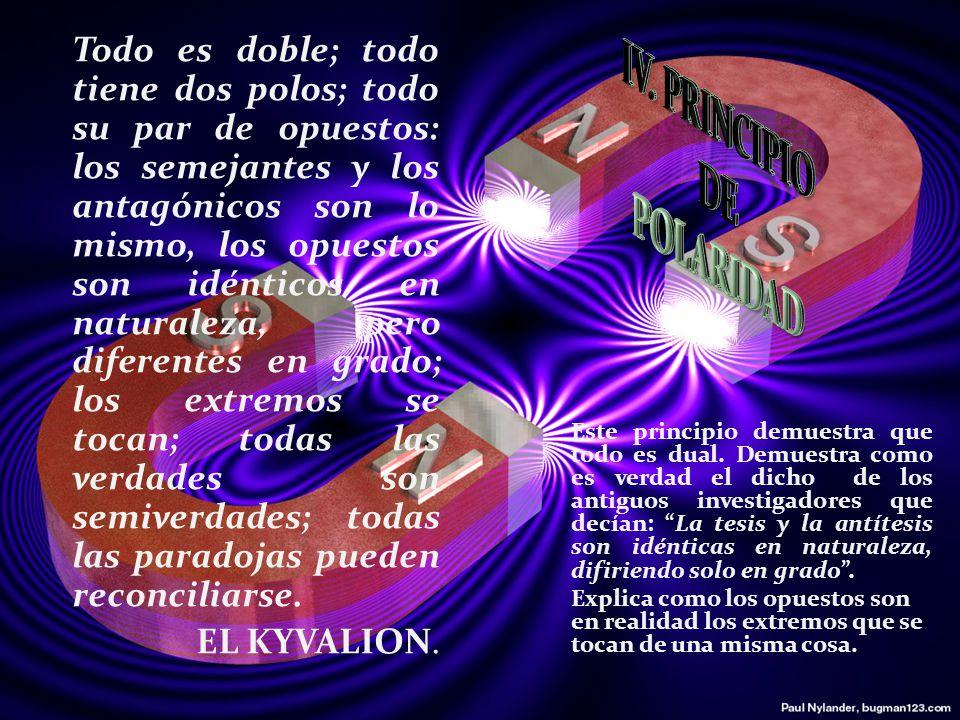 IV. PRINCIPIO DE POLARIDAD
