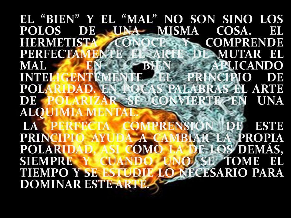 EL BIEN Y EL MAL NO SON SINO LOS POLOS DE UNA MISMA COSA