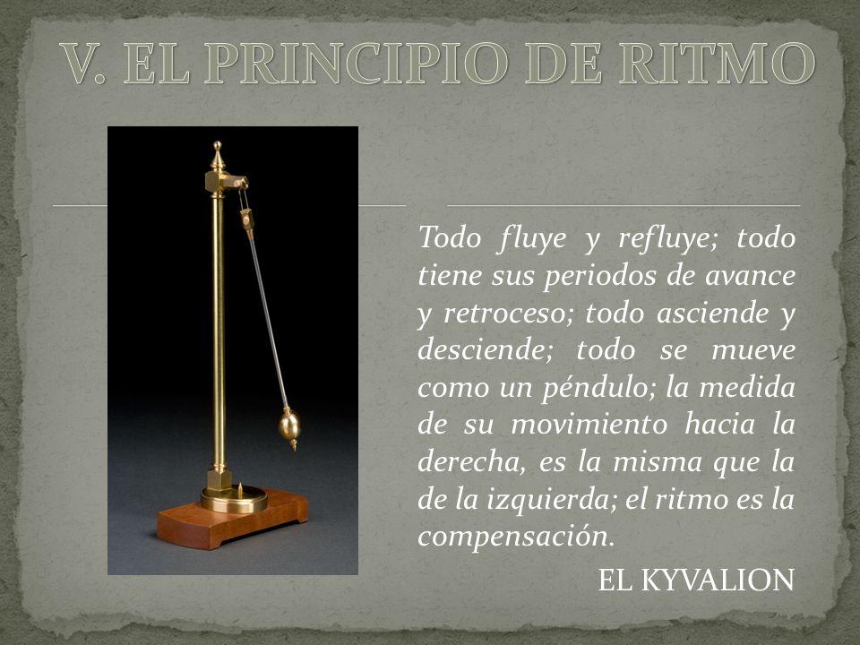 V. EL PRINCIPIO DE RITMO
