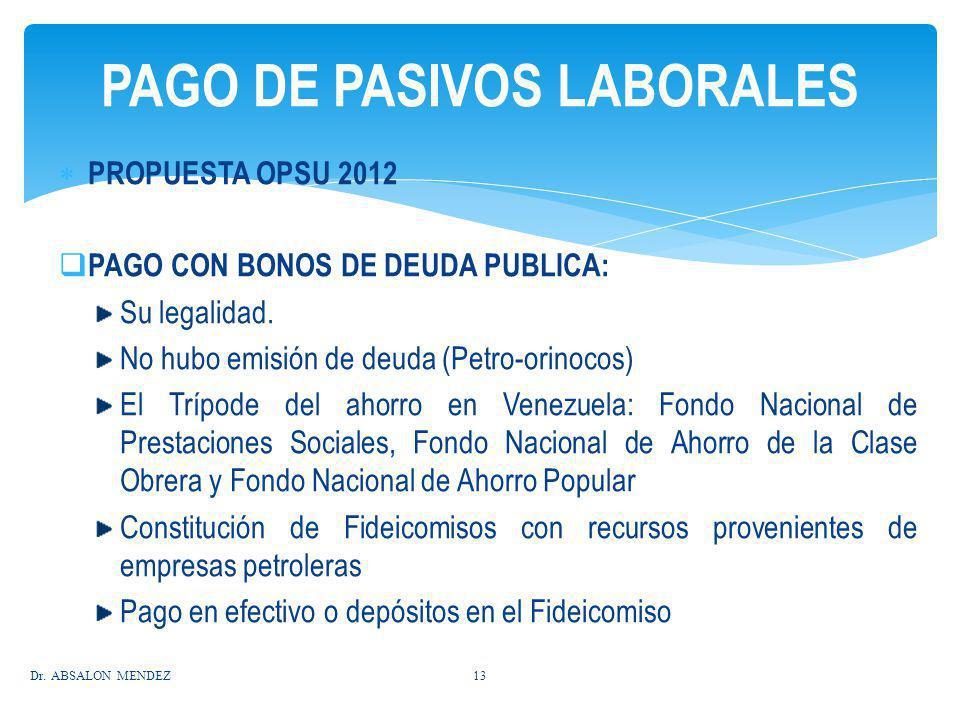 PAGO DE PASIVOS LABORALES