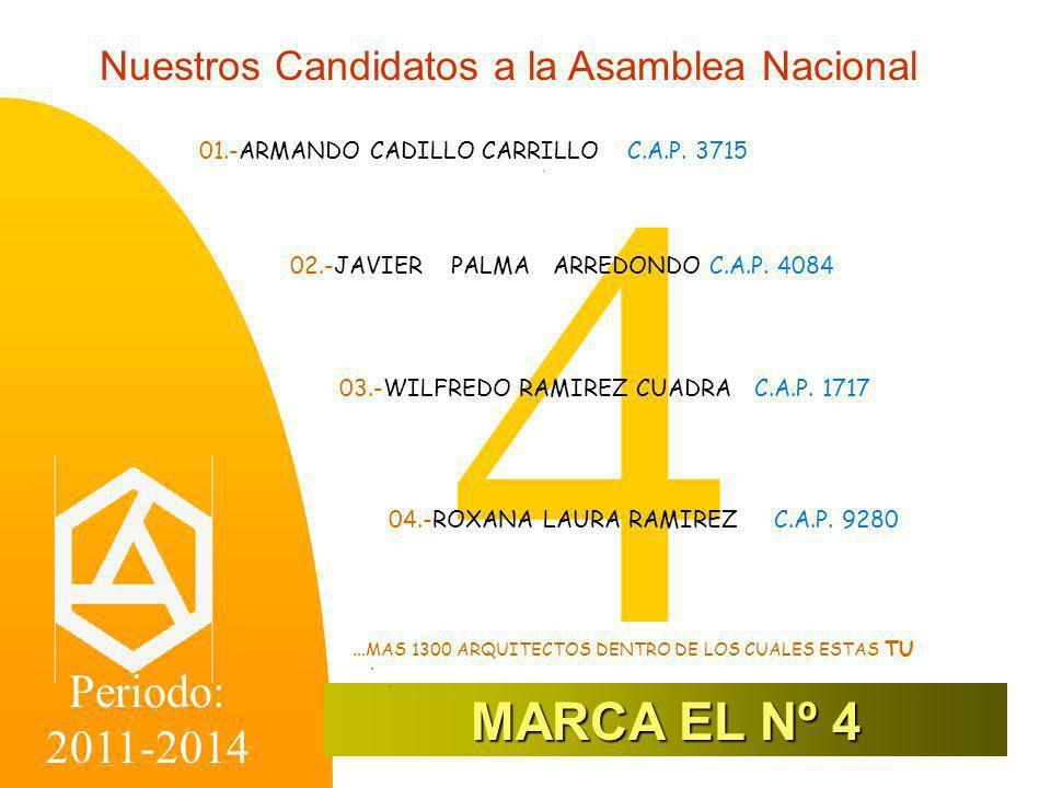 Nuestros Candidatos a la Asamblea Nacional