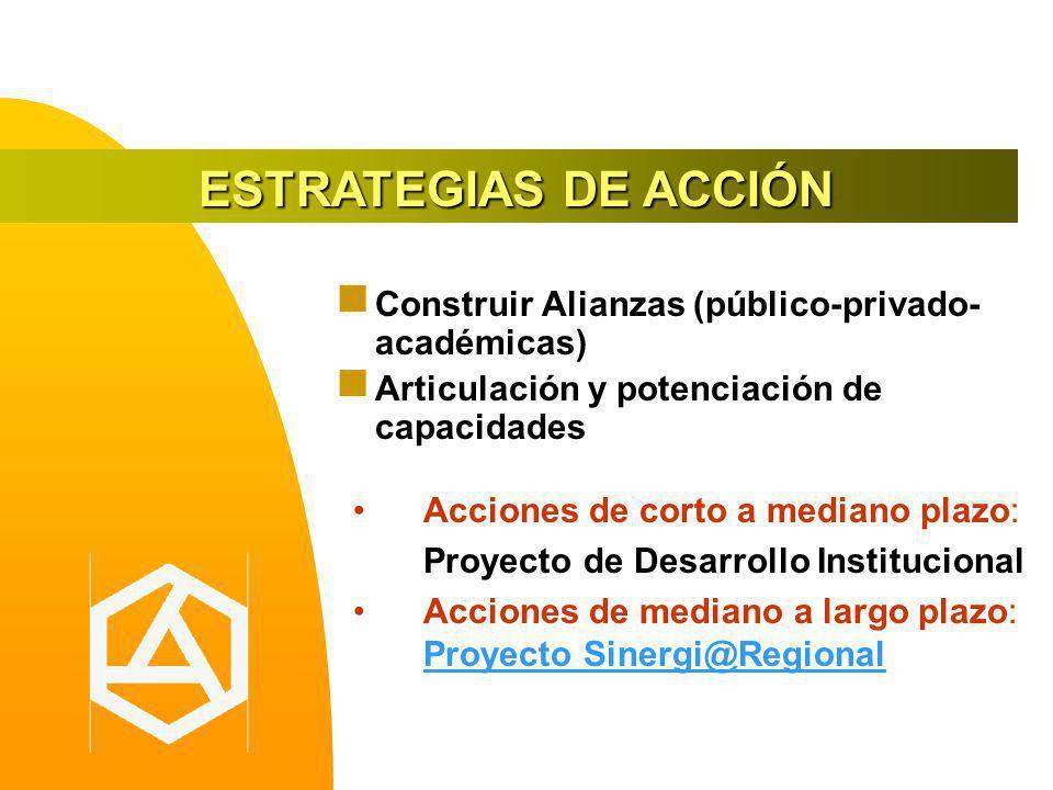 ESTRATEGIAS DE ACCIÓN Construir Alianzas (público-privado-académicas)