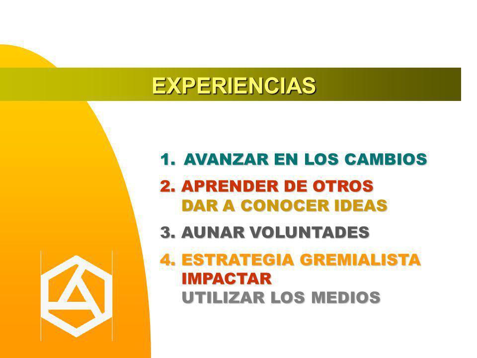 EXPERIENCIAS AVANZAR EN LOS CAMBIOS 2. APRENDER DE OTROS