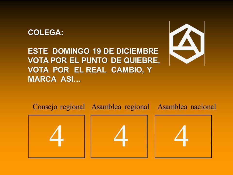 4 4 4 COLEGA: ESTE DOMINGO 19 DE DICIEMBRE