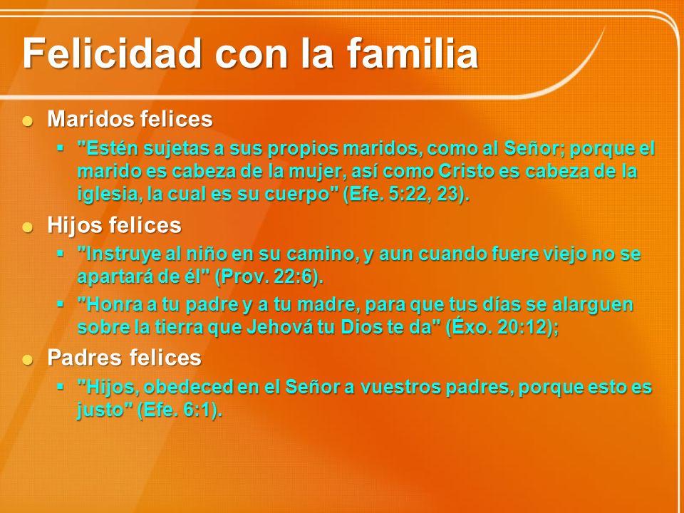 Felicidad con la familia