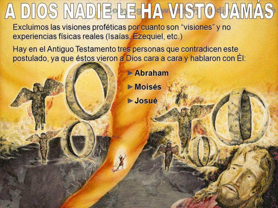 A DIOS NADIE LE HA VISTO JAMÁS