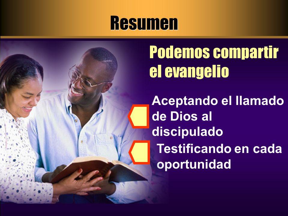 Resumen Podemos compartir el evangelio