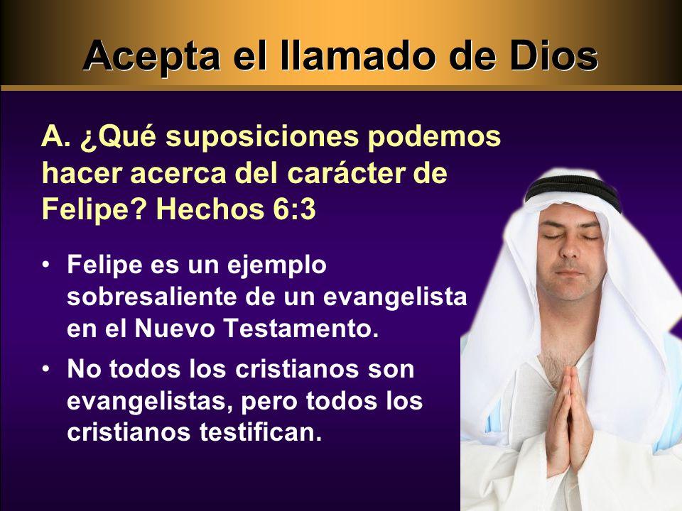 Acepta el llamado de Dios