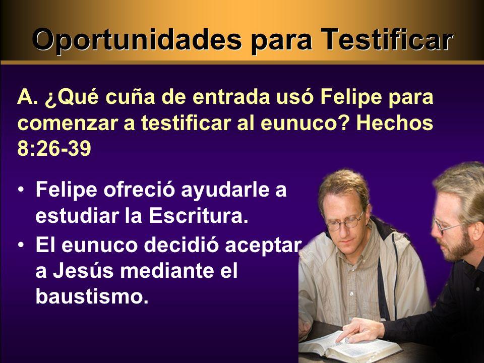 Oportunidades para Testificar