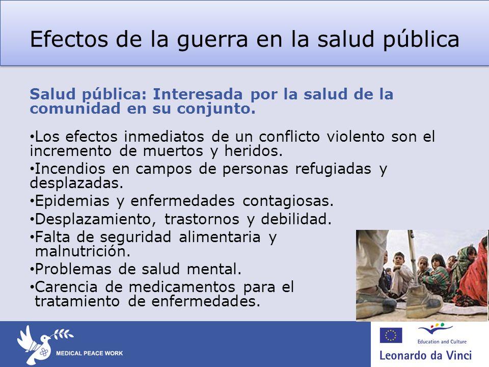 Efectos de la guerra en la salud pública