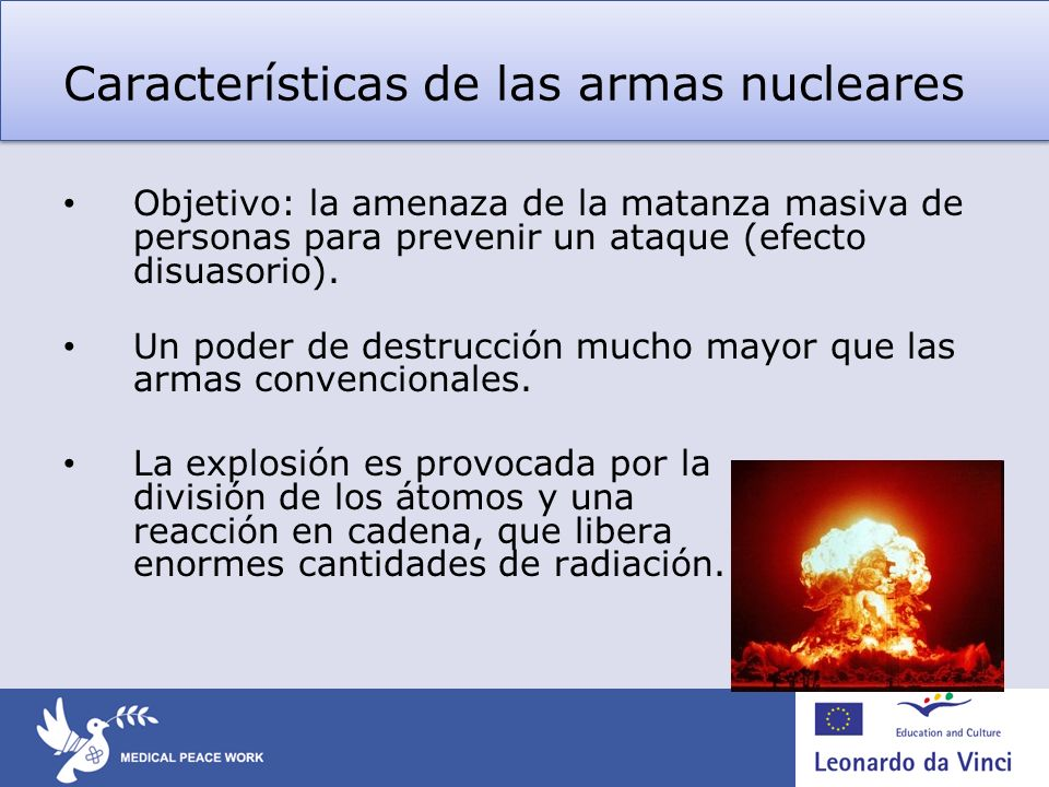 Características de las armas nucleares