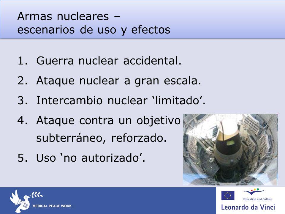 Armas nucleares – escenarios de uso y efectos