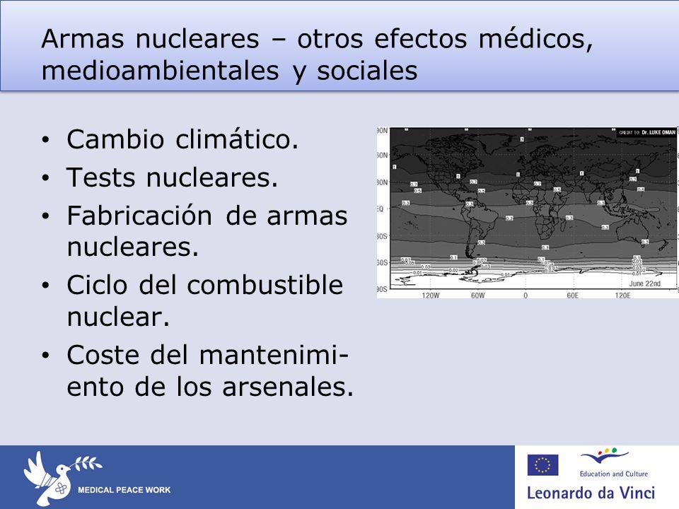 Armas nucleares – otros efectos médicos, medioambientales y sociales