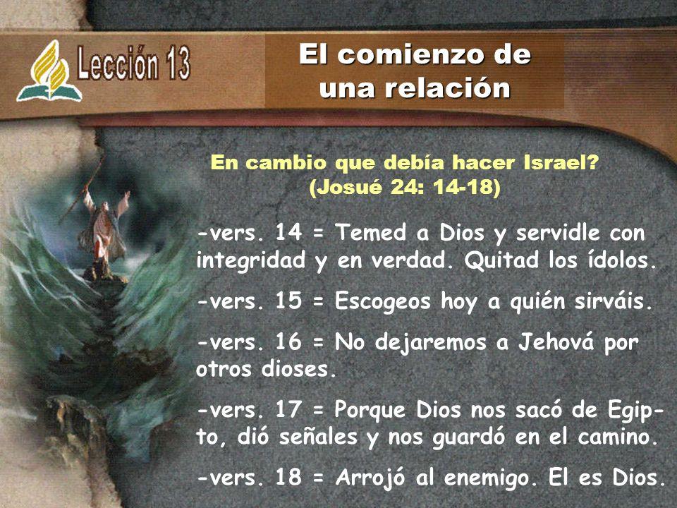 En cambio que debía hacer Israel (Josué 24: 14-18)