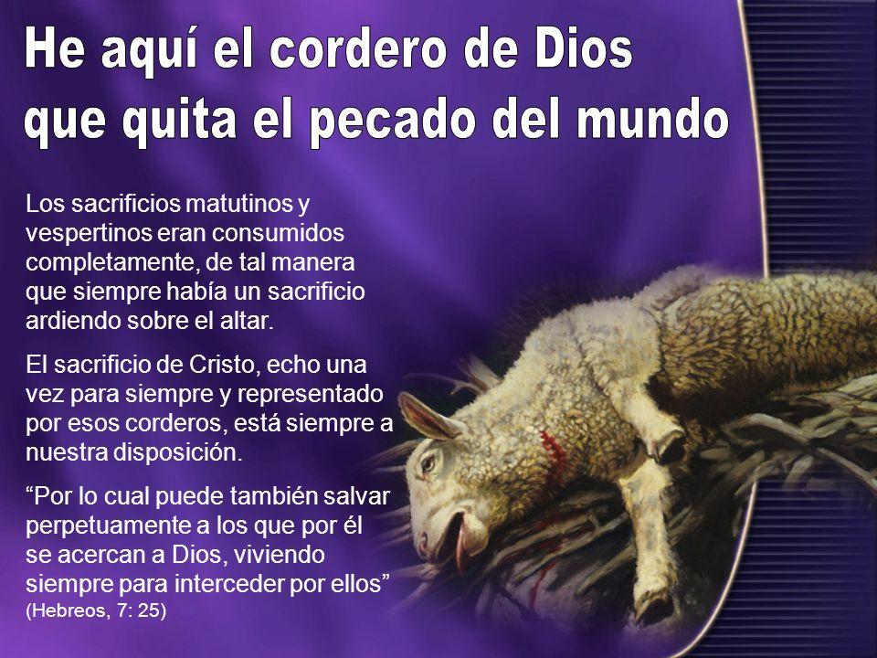 He aquí el cordero de Dios que quita el pecado del mundo