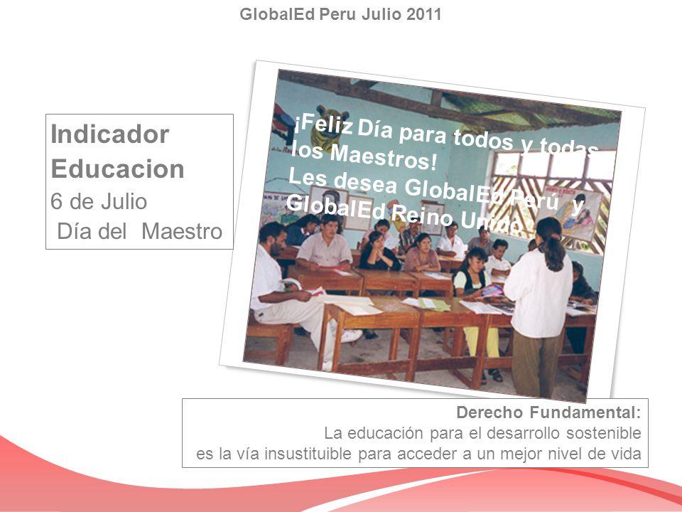 Indicador Educacion ¡Feliz Día para todos y todas los Maestros!