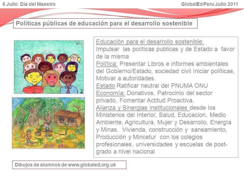 Políticas públicas de educación para el desarrollo sostenible