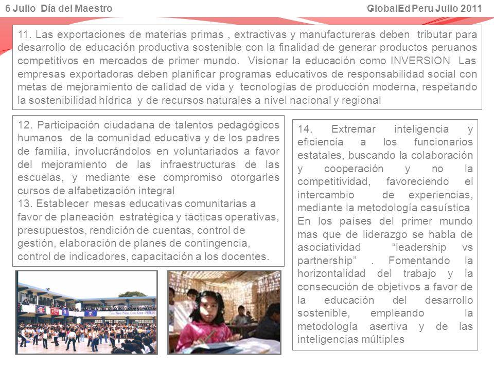 6 Julio Día del Maestro GlobalEd Peru Julio 2011