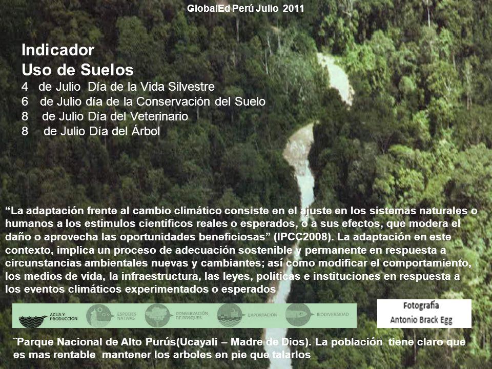 Indicador Uso de Suelos 4 de Julio Día de la Vida Silvestre