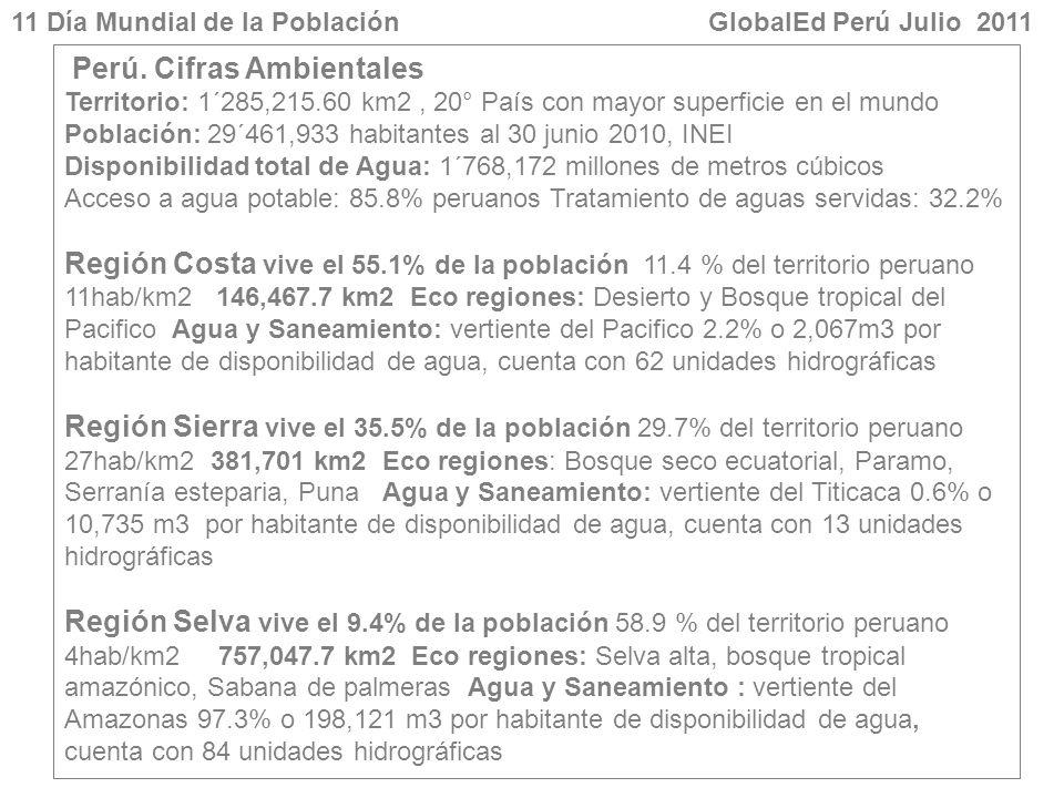 Perú. Cifras Ambientales