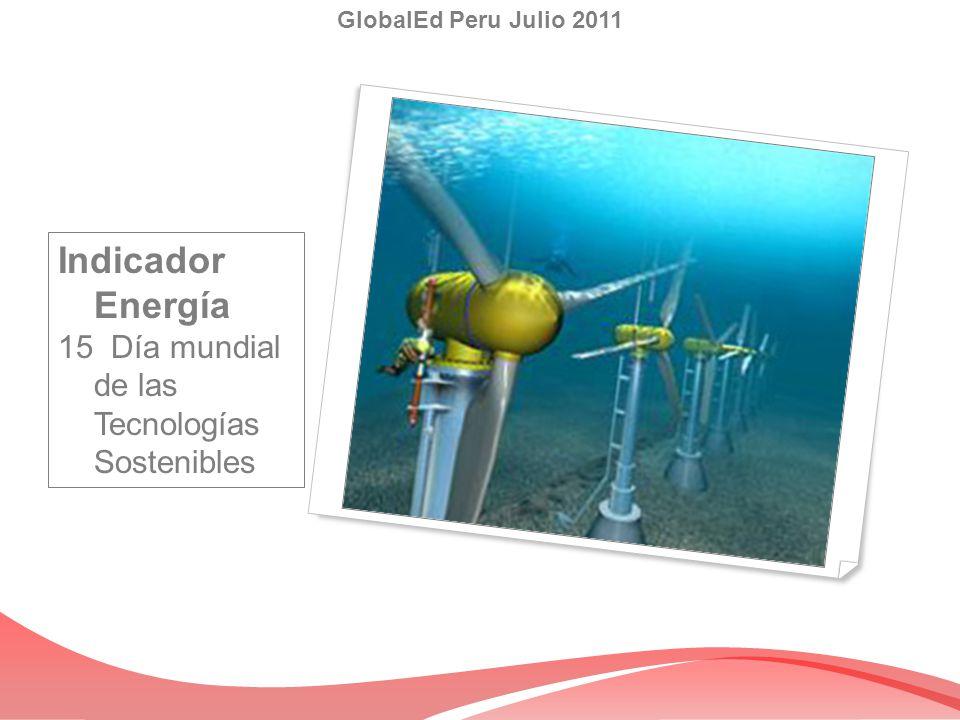 Indicador Energía 15 Día mundial de las Tecnologías Sostenibles
