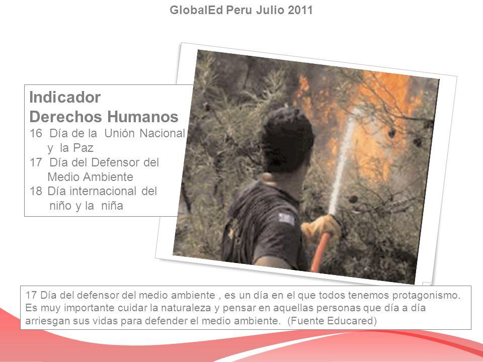 Indicador Derechos Humanos GlobalEd Peru Julio 2011