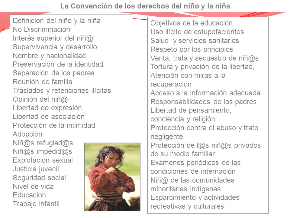 La Convención de los derechos del niño y la niña