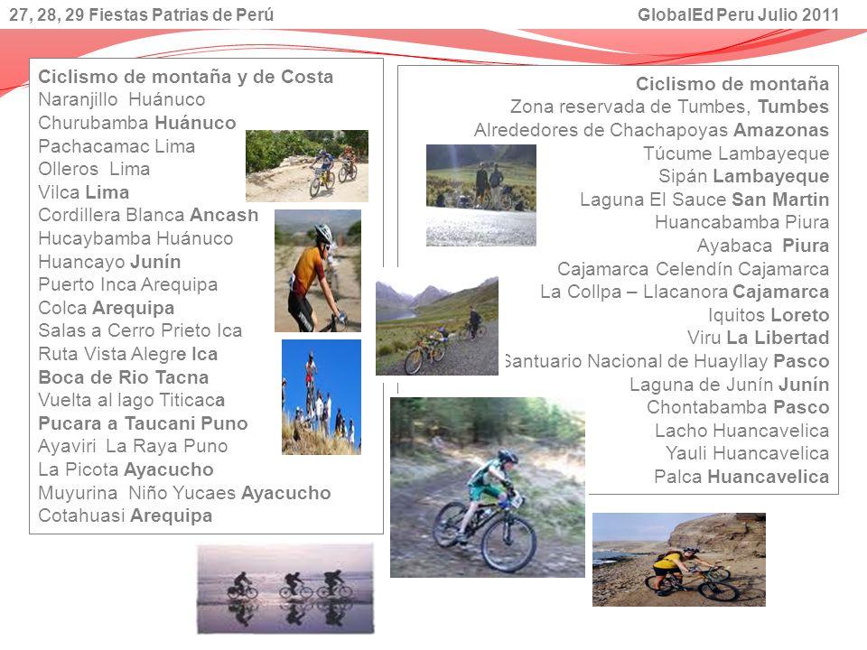 Ciclismo de montaña y de Costa Naranjillo Huánuco Churubamba Huánuco