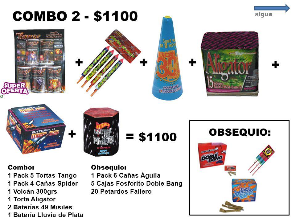 COMBO 2 - $1100 + + + + + = $1100 OBSEQUIO: Combo: