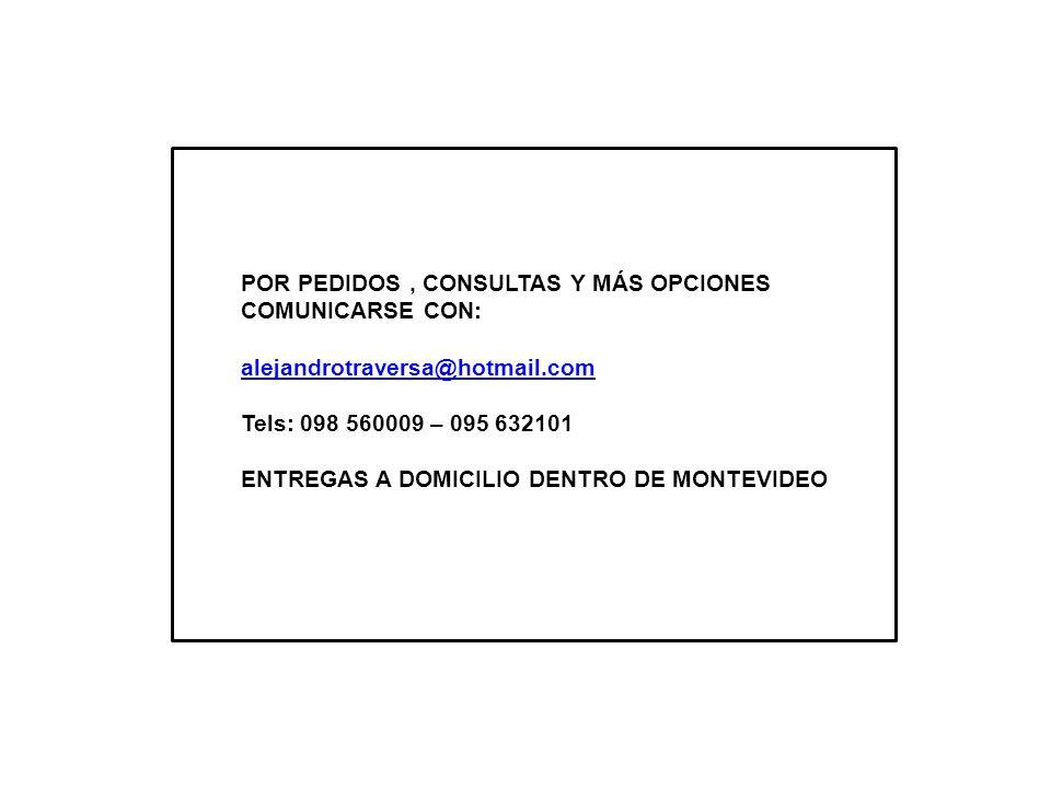 POR PEDIDOS , CONSULTAS Y MÁS OPCIONES COMUNICARSE CON: