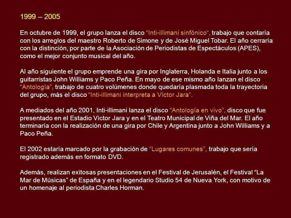 1999 – 2005