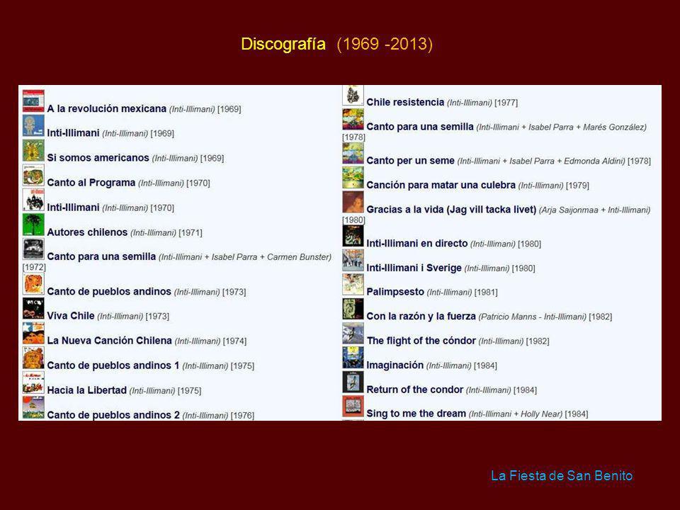 Discografía (1969 -2013) La Fiesta de San Benito