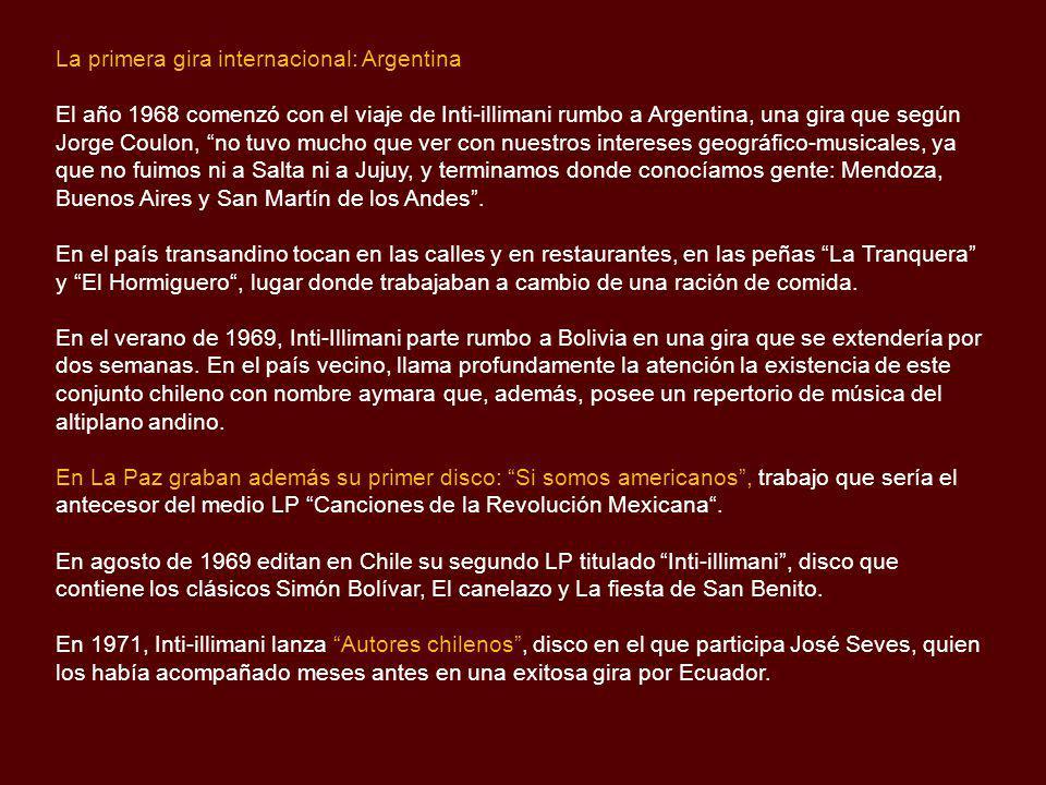 La primera gira internacional: Argentina