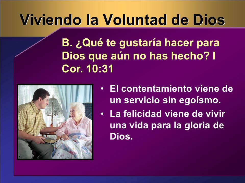 Viviendo la Voluntad de Dios
