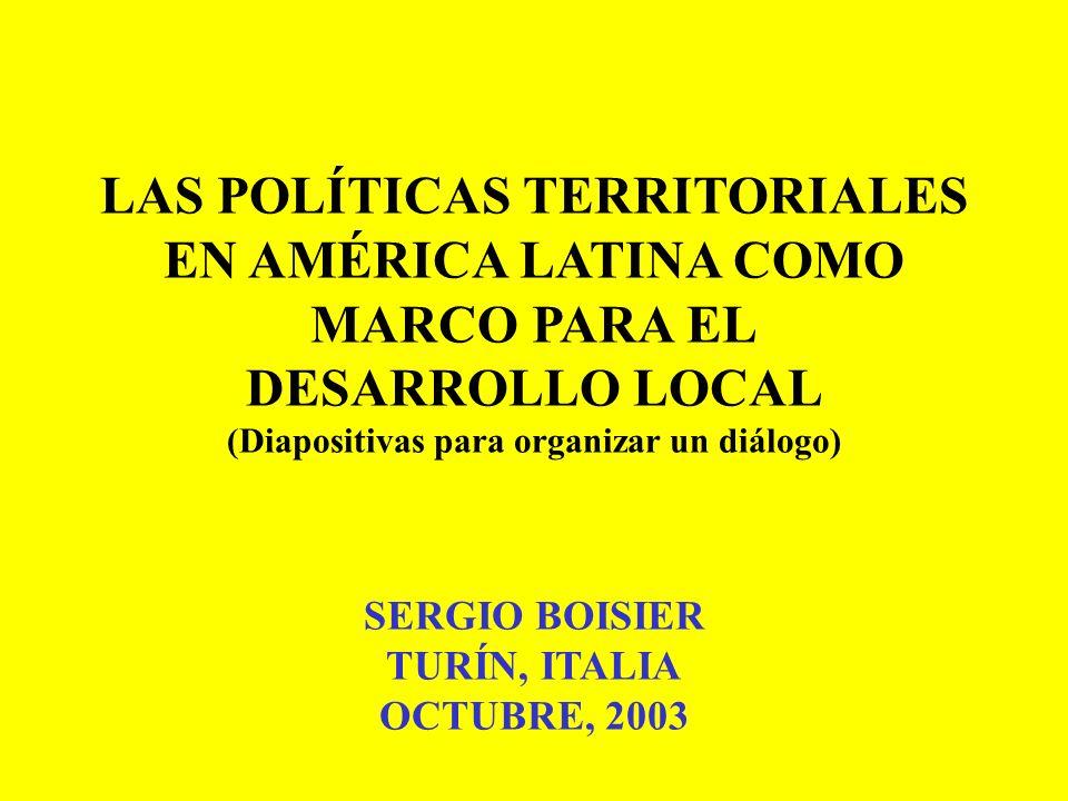 LAS POLÍTICAS TERRITORIALES (Diapositivas para organizar un diálogo)