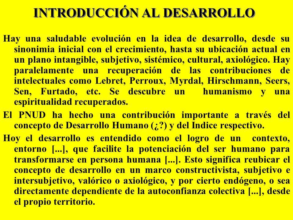 INTRODUCCIÓN AL DESARROLLO
