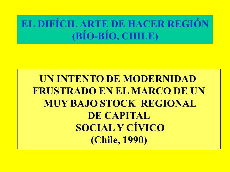 EL DIFÍCIL ARTE DE HACER REGIÓN (BÍO-BÍO, CHILE)