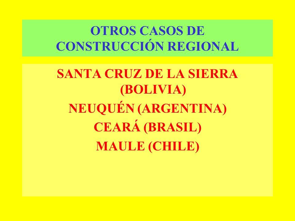 OTROS CASOS DE CONSTRUCCIÓN REGIONAL