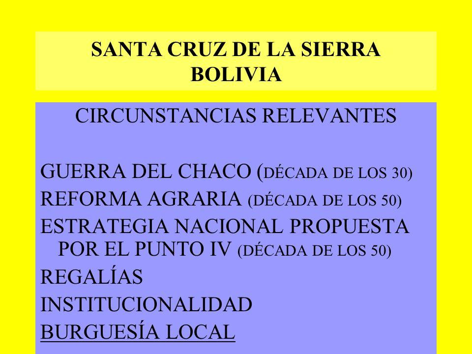 SANTA CRUZ DE LA SIERRA BOLIVIA