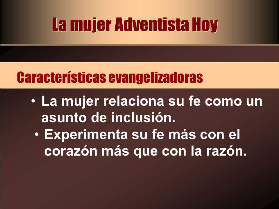 La mujer Adventista Hoy