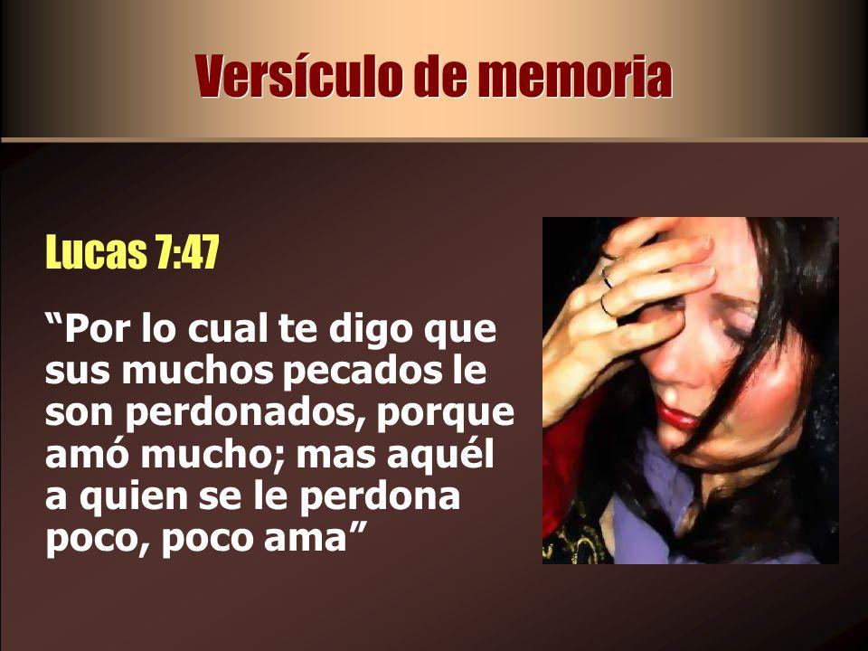 Versículo de memoria Lucas 7:47
